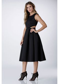 Back At It Skater Dress in Black | Necessary Clothing