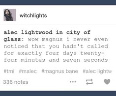 I HATED WHEN MALEC WERE SEPARATED IN CITY OF GLASS..... ❤❤❤❤