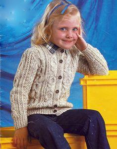 Knitting For Kids, Baby Knitting, Free Aran Knitting Patterns, Baby Cardigan, Needles Sizes, Baby Patterns, Boys, Girls, Boy Or Girl