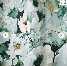 Green Waterlily Curtains £40
