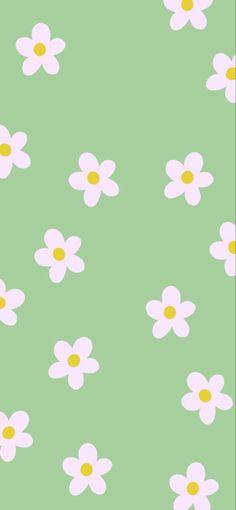 Iphone Wallpaper Green, Sage Green Wallpaper, Whats Wallpaper, Hippie Wallpaper, Soft Wallpaper, Iphone Wallpaper Tumblr Aesthetic, Iphone Background Wallpaper, Flower Wallpaper, Pattern Wallpaper Iphone