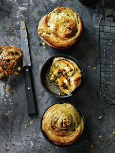 Spinach & Mushroom Pies (via http://www.pamperedhostess.com)