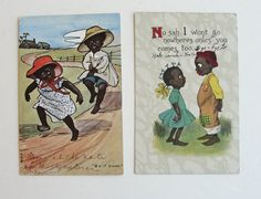 Vintage Black Children Postcards Lot 1910s by RetrofitStyle, $18.00 #blackamericana