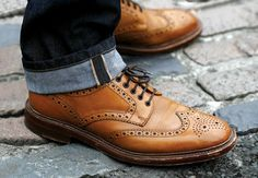 Every man should own a pair of tan brogue boots get yours at www.loake.co.uk
