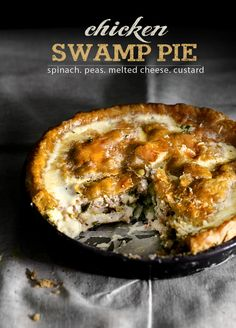 chicken-swamp-pie  I love her photos! And the recipe sounds pretty tasty...