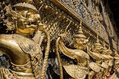 Statues at Grand Palace, Bangkok.
