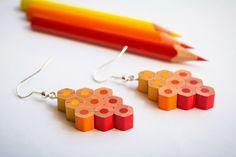 Cardboard Box Crafts, Clay Crafts, Fun Crafts, Diy And Crafts, Cute Jewelry, Jewelry Crafts, Pencil Crafts, Bijoux Diy, Diy Earrings