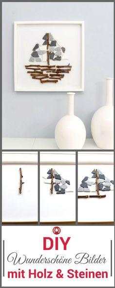 Mit Steinen, Stöcken und dem Ribba-Bilderrahmen machst du dieses coole Bild. Schau dir den Ikea-Hack als Post und/oder als Video an!