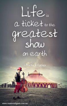 """Goodbye"" she said, ""I'm off to join the circus"" Circus"