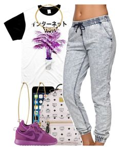 """""""september 10 2k14"""" by xo-beauty ❤ liked on Polyvore featuring Social Anarchy, MCM, Bullhead Denim Co., NIKE and Melody Ehsani"""