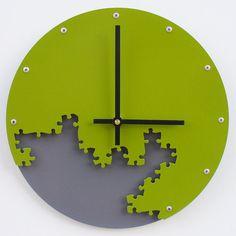 Puzzle Clock III Green & Gray  Custom Colors par All15Designs, $50,00