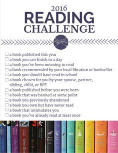 https://laurenmichelepoetry.wordpress.com/2016/01/09/2016-reading-challenge/  #Blog #Post #Blogger #Blogging #2016 #Reading #Challenge #Reader #Reading #Book #Books #Bookworm #Bibliophile