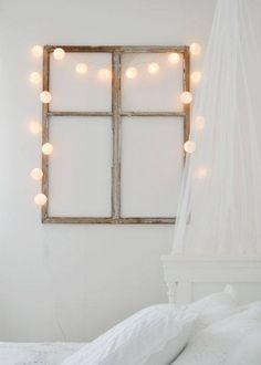 Window frame + hanging lights