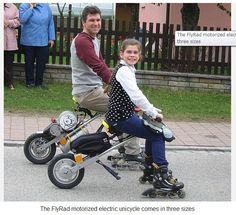 The FlyRad motorized electric unicycle.