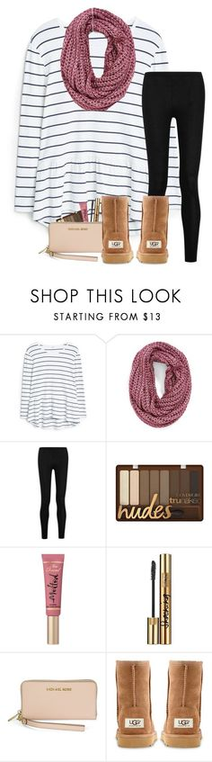 Winter Break!❄️ by haileymartin12 ❤ liked on Polyvore featuring MANGO, Steve Madden, Donna Karan, Too Faced Cosmetics, Yves Saint Laurent, Michael Kors and UGG Australia