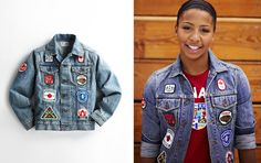 "The jean jacket was available at a local store, HBC, but it was out of my price range.  It was a hot commodity in London, but no athletes were willing to trade theirs to anyone.  ""Inspired by Canada's love for denim, the Closing Ceremony Jean Jacket has a classic appeal.  Embellished with a variety of Canada-inspired patches.  (see also ""Canadian tuxedo"")"