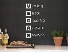 Wall tattoo kitchen sayings ' ' Vegan word list ' ' kitchen decoration lettering vegan text wall sti Wall Stickers Animals, Normal Wallpaper, Kitchen Quotes, Wall Tattoo, Nursery Wall Decals, Room Wall Decor, Diy Painting, Free Food, Kitchen Decor