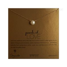"Large size Pearl. Pearls of Love necklace with 14K gold filled 18"" chain."