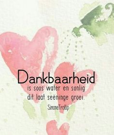 Dankbaarheid is soos water & sonlig, dit laat seëninge groei __(Simone Trollip) Faith Quotes, Bible Quotes, Cool Words, Wise Words, Beautiful Verses, Afrikaanse Quotes, Inspirational Qoutes, Positive Living, Word Pictures