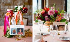 Table number idea (images: @davidlynnphoto via @coweddingsmag)