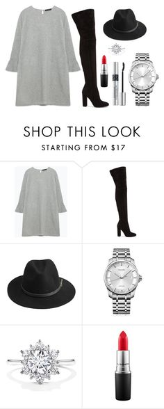 """Untitled #58"" by rodoulla97 on Polyvore featuring Zara, Gianvito Rossi, BeckSöndergaard, Calvin Klein, MAC Cosmetics and Christian Dior"