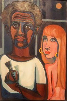 Faith Ringgold, 'American People Series The Artist and His Model,' ACA Galleries / arte, negritud Renaissance Artists, Renaissance Paintings, Harlem Renaissance, African American Artist, American Artists, Painter Artist, Artist Art, Faith Ringgold Art, Institute Of Contemporary Art