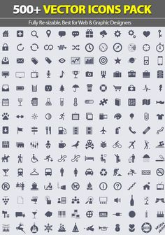 27 free vector icon sets for designers 17 - Free Resume Icons