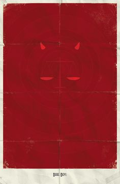 Daredevil.  Minimal Marvel Posters by Marko Manev