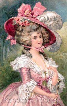 Edwardian-Beauty-Pink-Dress-Quilt-Block-Multi-Szs-FrEE-ShipPinG-WoRld-WiDE-E3
