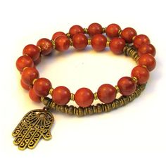Cool, earthy, rich genuine red jasper gemstone 27 bead mala bracelet.  #grounding #rootchakra