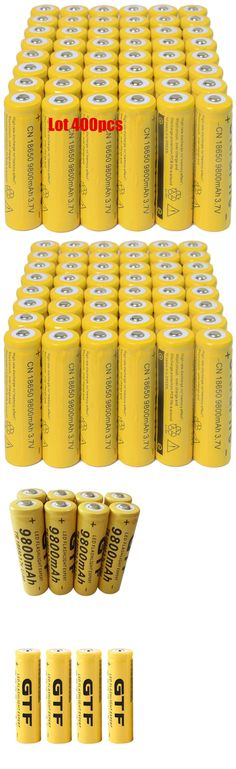 Rechargeable Batteries: 400X 18650 3.7V 9800Mah Yellow Li-Ion Rechargeable Battery For Torch Flashlight@ -> BUY IT NOW ONLY: $219 on eBay!