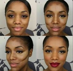 How to contour highlight your nose in less than 5 minutes heres an incredible contour and highlight tutorial for darker skin tones by using our new motives ccuart Gallery