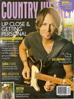 Country Weekly, Keith Urban, Zac Brown, Justin Moore, Sara Evans, July 25, 2011~NEW
