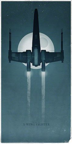 The X-Wing Fighter on a Mission to the Death Star