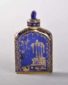 Lot: A GOOD SMALL 18TH CENTURY ENGLISH COBALT BLUE PERFUME, Lot Number: 1676, Starting Bid: £80, Auctioneer: John Nicholson Auctioneers, Auction: Fine Antiques & Collectables, Date: January 25th, 2018 EST