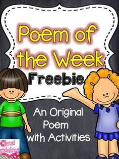 Poetry+{Poem+of+the+Week}+Freebie  Poetry+and+shared+reading+are+a+great+match+to+help+build+reading+fluency,+word+work+skills+and+more!+This+is+a+freebie+that+is+part+of+a+larger+product+of+4+Poems+