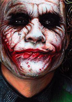 Heath Ledger's Joker - The Dark Knight Joker Pics, Joker Art, Marvel, Heros Comics, The Man Who Laughs, Heath Ledger Joker, The Dark Knight Trilogy, Greatest Villains, Joker Wallpapers