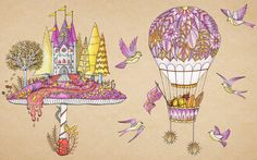 Enchanted Forest - Mushroom Castle and Hot Air Balloon