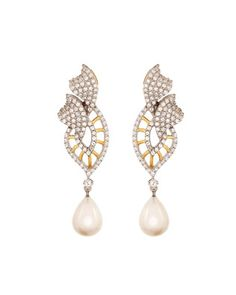 Sparkling 925 Sterling Silver,Cz Earrings | Rs. 3,000 | http://voylla.com