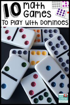 Children's Educational Games: Ten math games that students can play with dominoes to strengthen multiplication, decimal, and fraction skills. A FREE printable is included! Math Night, Math Intervention, Second Grade Math, 1st Grade Math Games, 4th Grade Activities, Sorting Activities, Group Activities, Sixth Grade, Therapy Activities