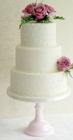 New wedding cakes simple 3 tier pearls ideas , The Effective Pictures We Offer You About wedding cake toppers precious moments A quality picture c Cream Wedding Cakes, 3 Tier Wedding Cakes, Wedding Cake Fresh Flowers, Elegant Wedding Cakes, Beautiful Wedding Cakes, Wedding Cake Designs, Wedding Cake Toppers, Trendy Wedding, Wedding Cake Simple
