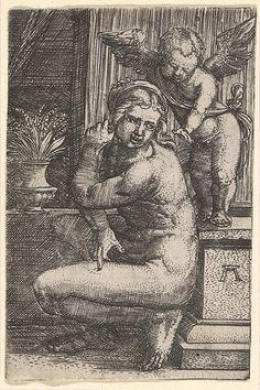 Venus Crouching Albrecht Altdorfer (German, (?) ca. 1480–1538 Regensburg)
