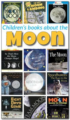 16 books about the moon for kids. This is a great resource for a moon study with kids! A review and description of 16 non-fiction and fiction books about the moon for kids.    Gift of Curiosity