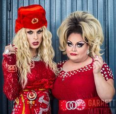 Katya and Ginger Minj by Garrett Matthew