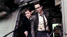 Charles (Charlie) Peckham Day as Newton (Newt) Geiszler & Burn Hugh Gorman as Hermann Gottlieb in Pacific Rim