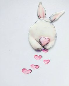 Likes, 61 Kommentare – Eleon … - kunst illustration Funny Bunnies, Cute Bunny, Cute Drawings, Animal Drawings, Baby Animals, Cute Animals, Bunny Art, Bunny Drawing, Bunny Painting