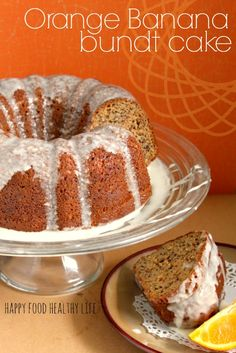 Orange Banana Bundt Cake. This is the absolute perfect cake to share with friends. With bold with summer flavors and perfect for a gathering // www.happyfoodhealthylife.com