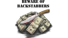 Backstabbers is a T Shirt designed by SayWhatJAY to illustrate your life and is available at Design By Humans