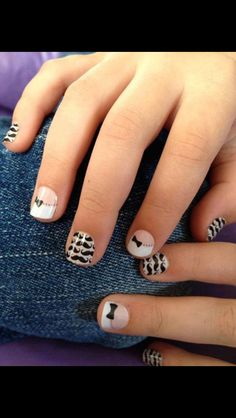 Super Cute Nails For Girls Junior Sizes Available With 2 Mixmatch Designs