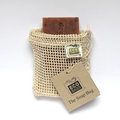 Eco Bags Natural Cotton Weave Soap Bag
